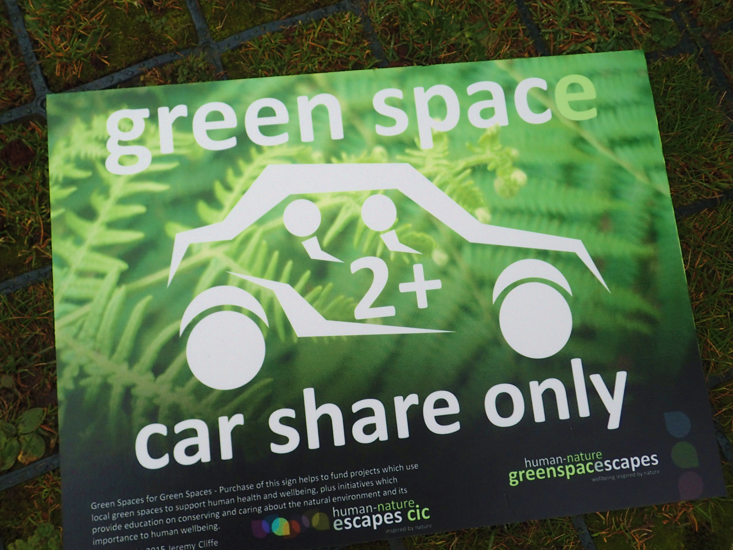Human-Nature Escapes CIC - Green Space Sign 5