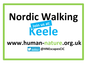 Human-Nature Escapes CIC - Join Us Nordic Walking Keele