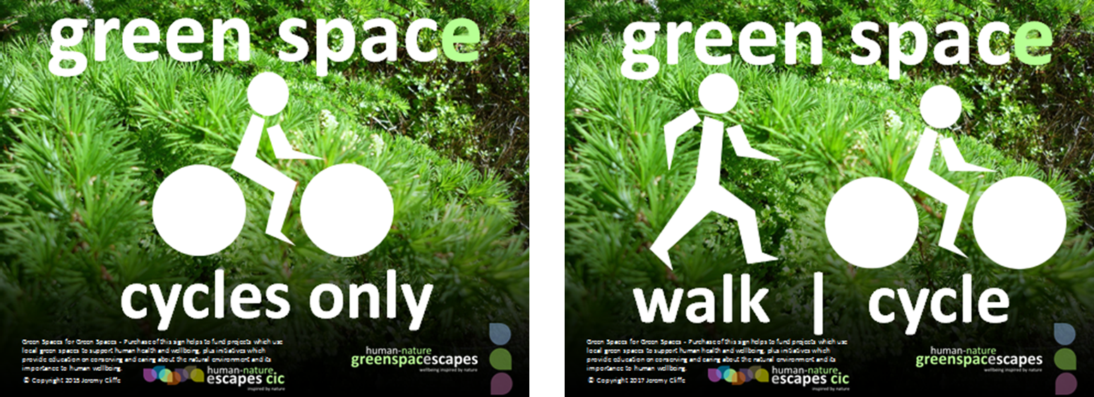 Human-Nature Escapes CIC - Active Travel Signs