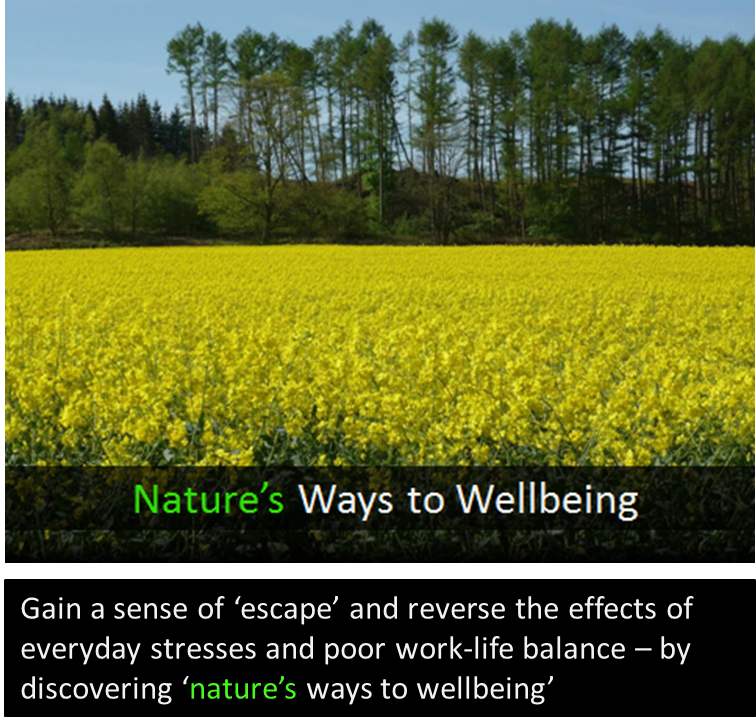 Human-Nature Escapes CIC - Nature's Ways to Wellbeing