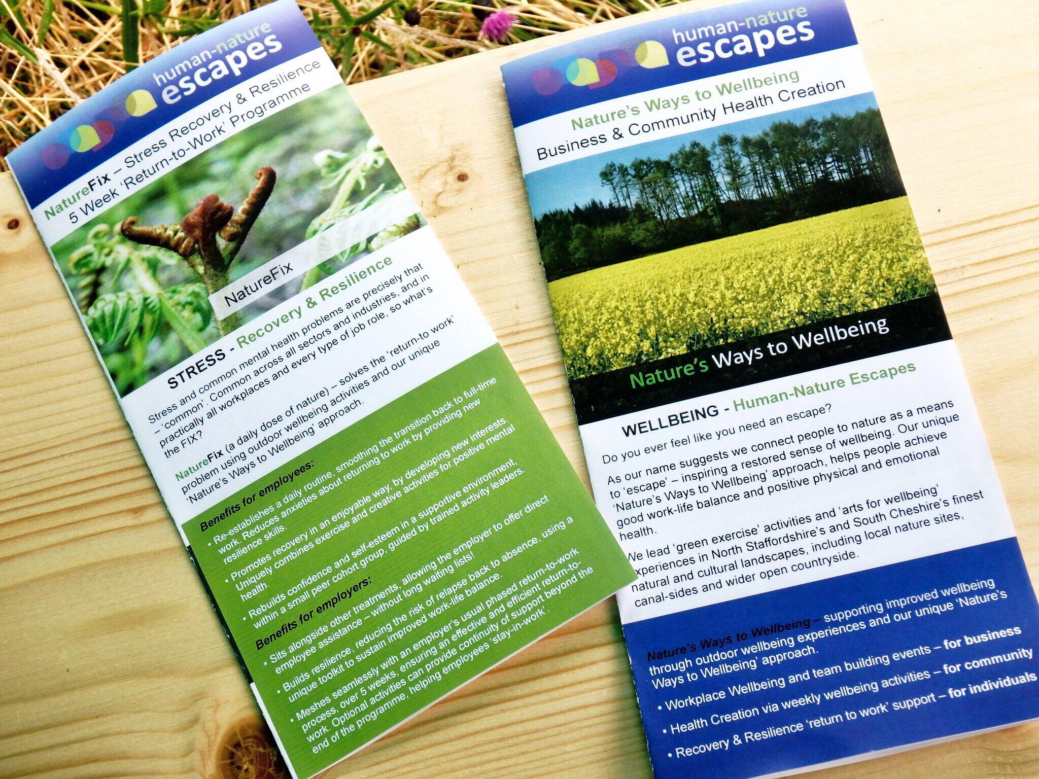 Human-Nature Escapes CIC - Leaflets