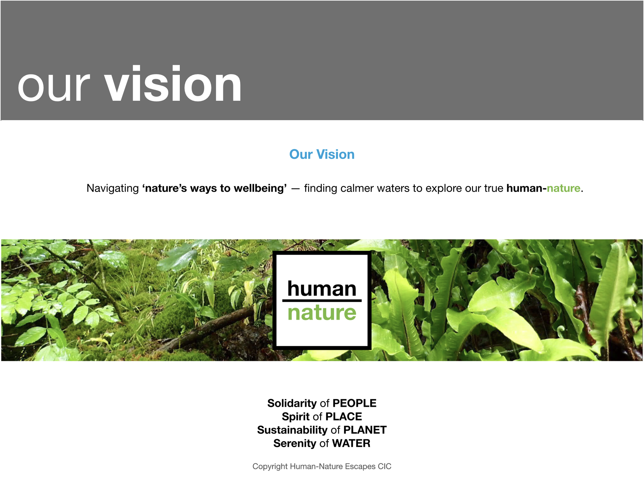 Human-Nature - Our Vision