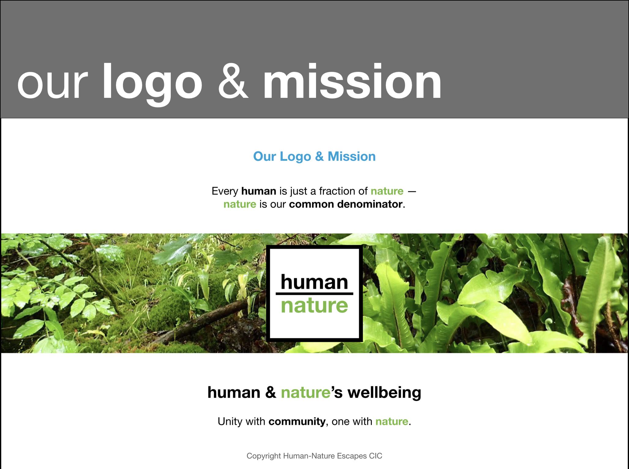 Human-Nature - Logo & Mission